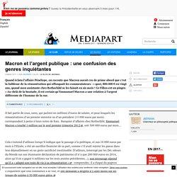 Macron et l'argent publique : une confusion des genres inquiétantes