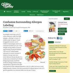 FOOD QUALITY - DEC 2014 - Confusion Surrounding Allergen Labeling.
