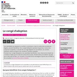 Congé d'adoption : ce que dit le code du travail