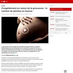 Congédiement en raison de la grossesse: le nombre de plaintes en hausse