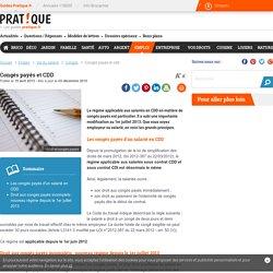 Congés payés et CDD - pratique.fr
