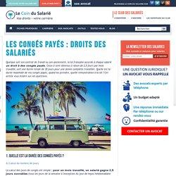 Les congés payés : droits des salariés