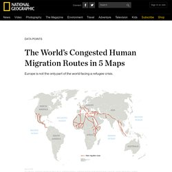 The World's Congested Human Migration Routes in 5 Maps