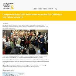 Congratulations 2015 Environment Award for Children's Literature winners!