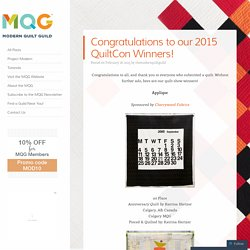 Congratulations to our 2015 QuiltCon Winners!