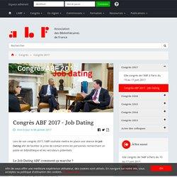 Congrès ABF 2017 - Job Dating