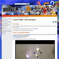 Congrès AGEEM – Atelier Stop-Motion