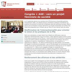 Congrès + AGE : vers un projet féministe de société