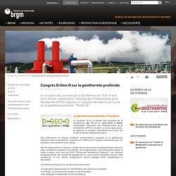 Congrès D-Geo-D sur la géothermie profonde
