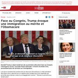 Face au Congrès, Trump évoque une immigration au mérite et l'Obamacare - rts.ch - Monde
