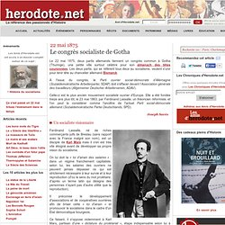 22 mai 1875 - Le congrès socialiste de Gotha