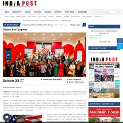 Tandon For Congress - Indiapost Exclusive