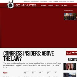 Congress insiders: Above the law?