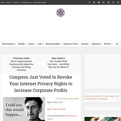 Congress Just Voted to Revoke Your Internet Privacy Rights to Increase Corporate Profits
