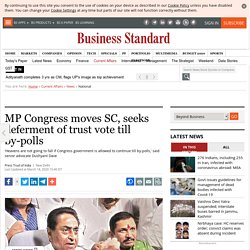 MP Congress moves SC, seeks deferment of trust vote till by-polls