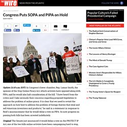 Congress Puts SOPA and PIPA on Hold