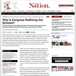 Why Is Congress Redlining Our Schools?