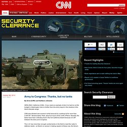 Army to Congress: Thanks, but no tanks