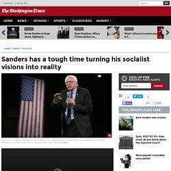 Bernie Sanders' record in Congress shows little socialist progress