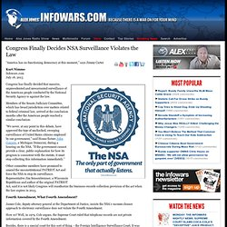 » Congress Finally Decides NSA Surveillance Violates the Law Alex Jones