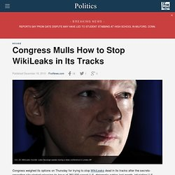 Congress Mulls How to Stop WikiLeaks in Its Tracks - FoxNews.com
