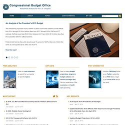 Congressional Budget Office - Home Page