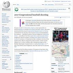 2017 Congressional baseball shooting - Wikipedia