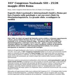 103° Congresso Nazionale SIO - 25-28 maggio 2016 Roma