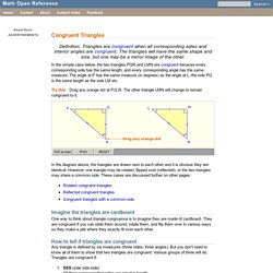 GSS - Congruent Triangles
