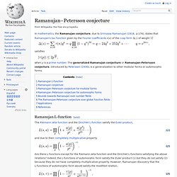 Ramanujan–Petersson conjecture