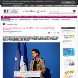Réunion conjointe des recteurs et des DRAC : discours de la ministre