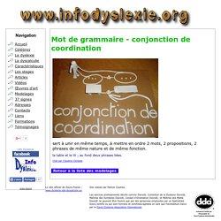 Modelage - Mot de grammaire - conjonction de coordination