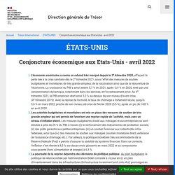 Conjoncture économique aux Etats-Unis en 2019 - ÉTATS-UNIS