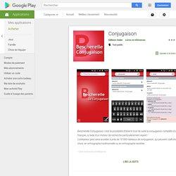 Conjugaison – Applications sur GooglePlay