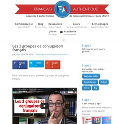 Les 3 groupes de conjugaison français - Français Authentique