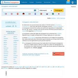 Conjugaison verbe allemand , modèles de conjugaison