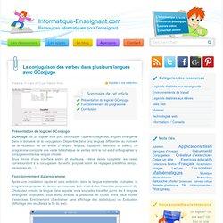 GConjugo: la conjugaison des verbes dans les langues étrangères