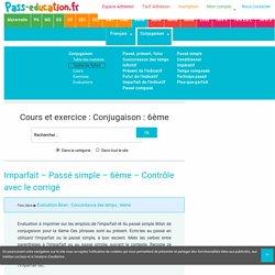 Conjugaison : 6ème - Cycle3 - Exercices cours évaluation révision