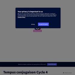 Tempus conjugaison Cycle 4 - Jeu de l'oie par Laila Methnani, Genial.ly