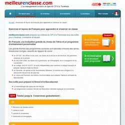 Exercice de français en ligne: cours, exercices conjugaisons, orthographe et grammaire