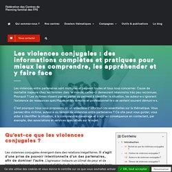 """Dossier """"Violences conjugales"""" - Fédération des Centres de Planning Familial des FPS"""