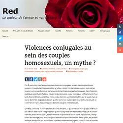 Violences conjugales au sein des couples homosexuels, un mythe ?
