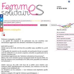 Violences conjugales - femmes solidaires