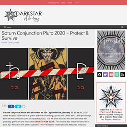 Saturn Conjunction Pluto 2020 ~ Protect & Survive