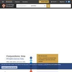 """Conjunctions: time gramática inglés en """"English Grammar Today"""" - Cambridge University Press"""