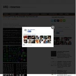 CONJUNTO DE BLOQUES AUTOCAD 2D ~ ARQ + recursos