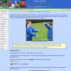 Conkers - How to play this Traditional Game