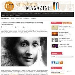 La nota de suicidio escrita a mano de Virginia Woolf: un doloroso y conmovedor adiós