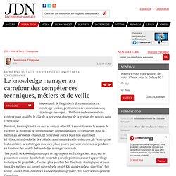 Le knowledge manager au carrefour des compétences techniques, métiers et de veille - Le Knowledge Manager au service de la connaissance - Journal du Net Solutions