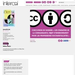 Conclusion du dossier «Les communs de la connaissance, objet d'enseignement pour les professeurs documentalistes» – Inter CDI